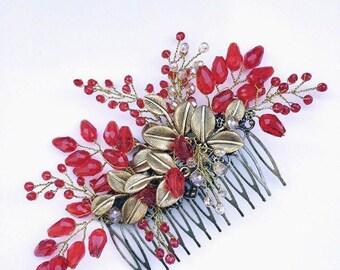 Decorative hair comb