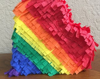 Rainbow Heart Pinata