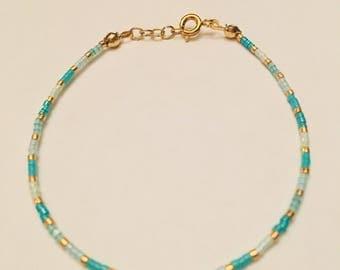 Delica Beaded Minialist Bracelet