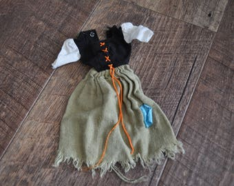 Vintage Barbie Clothes - Poor Cinderella #872 - Dress and Broom
