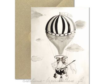 The bear and the balloon card