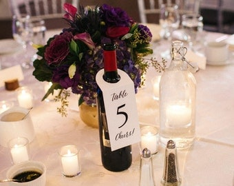 Printable Wine bottle table markers