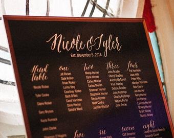 24 x 36 inch Custom Wedding Seating Chart