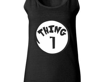 Thing 1 The Most Popular Funny Women Tank Tops Sleeveless Tops Best Seller Designed Women Tanks