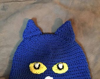 Pete the Cat inspired Crochet hat