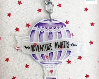 Handmade Adventure Awaits Keychain