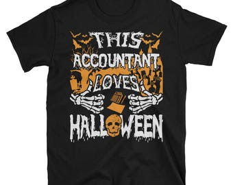 This Accountant Loves Halloween UNISEX T-Shirt Gift for Accountant