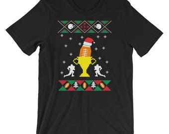 Football Ugly Christmas Sweater T-Shirt Football Christmas UNISEX Shirt Football Fan Gift