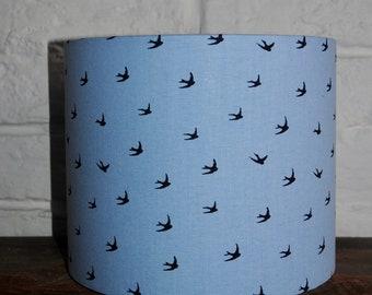 Light Blue Swallow Lampshade/Lightshade (25cm)