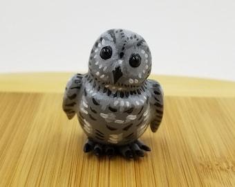 Gray Screech Owl Figure