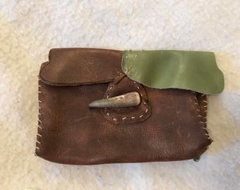 Genuine leather hip pouch