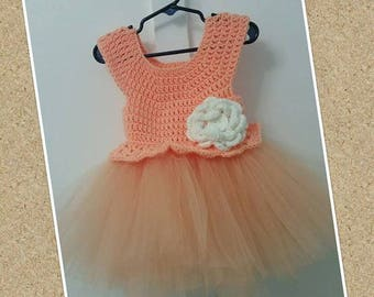 Crochet and Tulle Tutu Dress