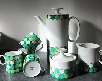 Ceramic Retro Coffee Set by Thomas Green Circles