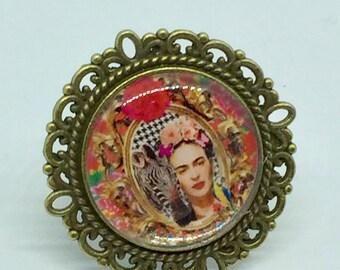 Frida Kahlo and Zebra ring