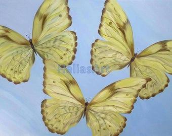 Dancing Butterflies Original Oil Painting on Canvas