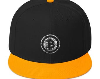 Bitcoin Cryptocurrency | HODL to the Moon | Crypto Blockchain Snapback Hat
