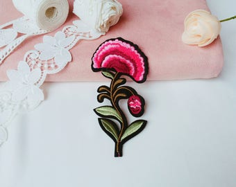 pink orchid patch/flower  patch/iron on patch/embroidered patch/sew on patch/patch for jacket