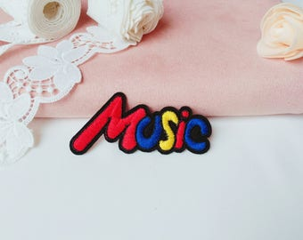 colorful music patch/Word patch/iron on patch/sew on patch/patch for jacket, backpack ,costume