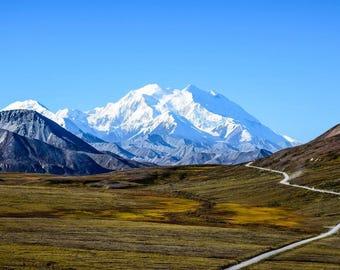 Road to Mount Denali in Alaska Photo Print