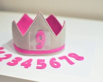Numbers ONLY for the 100 % Wool Birthday Crown