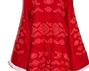 Embroidered dress Bohemian Style Kilim Vyshyvanka Mini Bohemian Linen Ukrainian Dresses Custom Ethno Outfit Folk Embroidery