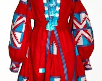 Ukrainian Vyshyvanka Dress Bohemian Clothes Ukraine Boho Dresses Vishivanka Mexican Embroidery Fashion Ethnic Red Linen Bohochic Embroidered
