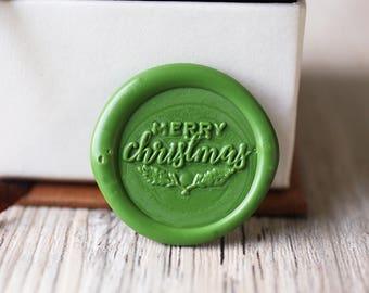 Merry Christmas wax seal stamp kit, holiday seal, Christmas gift set,Christmas gift,