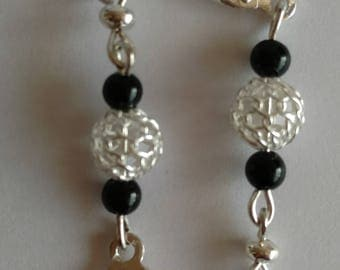 Crystal and silver Drops earrings