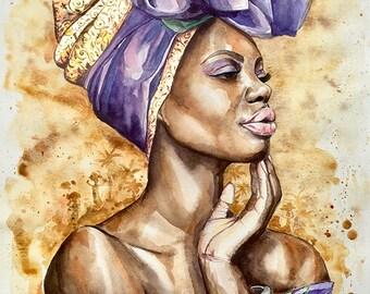 "watercolor ""Africa"" 42x30cm"