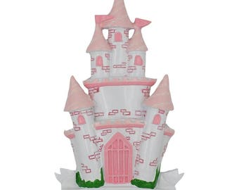 Castle with Pink Accents Personalized Ornament