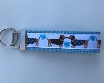 dachshund key fob, weenie dog