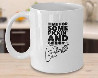 My Guitar Mug, Guitar Coffee Mug, Accoustic Guitar Mug