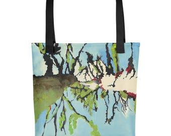 Denver Trees - Amazingly beautiful full color tote bag with black handle featuring children's donated artwork.