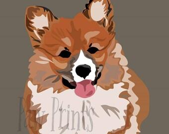 Welsh Corgi Puppy Art Print