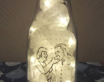 Lighted photo vase with custom photos