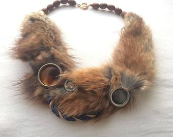 fox fur necklace