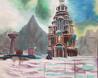 Wyrmest Temple Oil Painting Original By Professional Artist Emils Kristians Muzikants