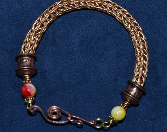 Viking Wire bracelet - Gold & Copper