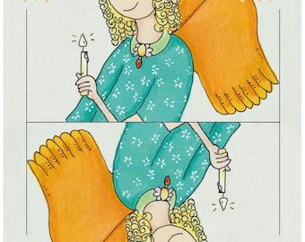 Christmas card Angel (10Stück)