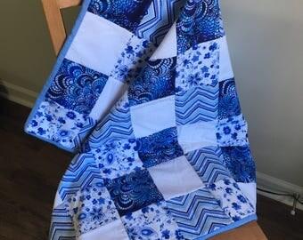 Baby Quilt-Blue Design