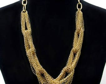 Long Chain Links Necklace Set