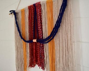 Warm Braid + Copper Medium Wall Hanging