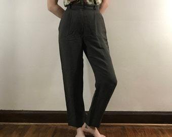 Vintage 1990s, High Waisted Emporio Armani Trousers, Women's Small Pants