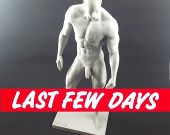 MM14 - 3D Printed Standing Muscular Nude Man (Last Few Days Available)