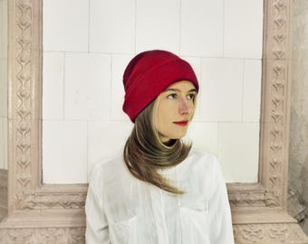 Mohair Knitted Winter Beanie Hat