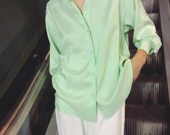 Vintage silk pistachio shirt