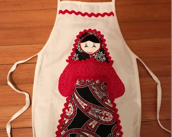 Child's Russian Matryoshka Doll Apron Christmas Gift!