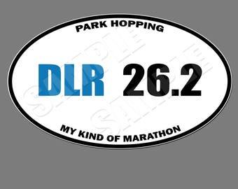 Disneyland Resort 26.2 Oval Magnet 5X3 (Disneyland Resort Inspired, Marathon Spoof Style Magnet)