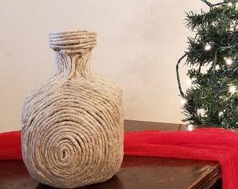Natural Hemp-Wrapped Bottle