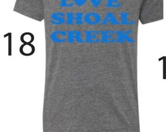 Heather grey tri-blend flocked t-shirt